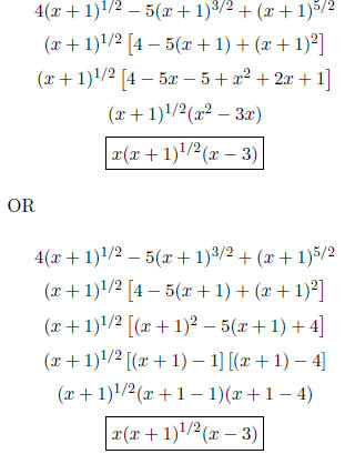 FACTORING EXPRESSIONS INVOLVING RATIONAL EXPONENTS